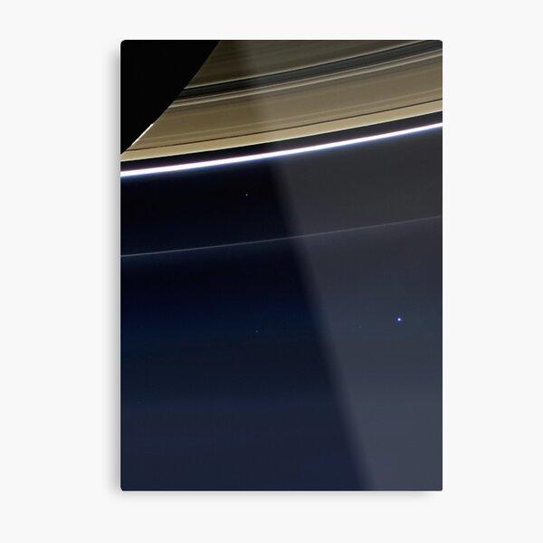Pale Blue Dot — Cassini ⛔ HQ-quality Metal Print