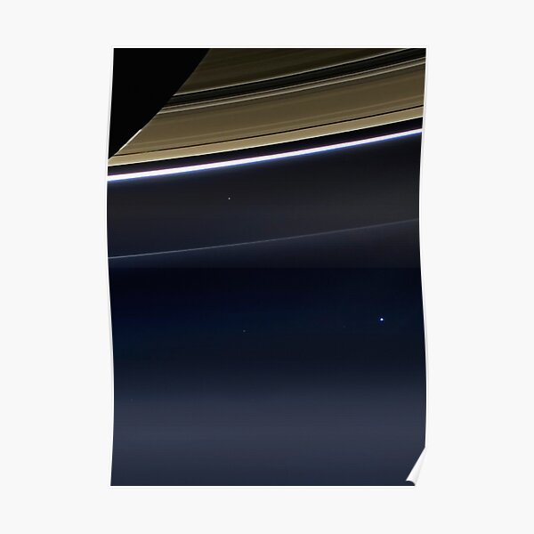 Pale Blue Dot — Cassini ⛔ HQ-quality Poster