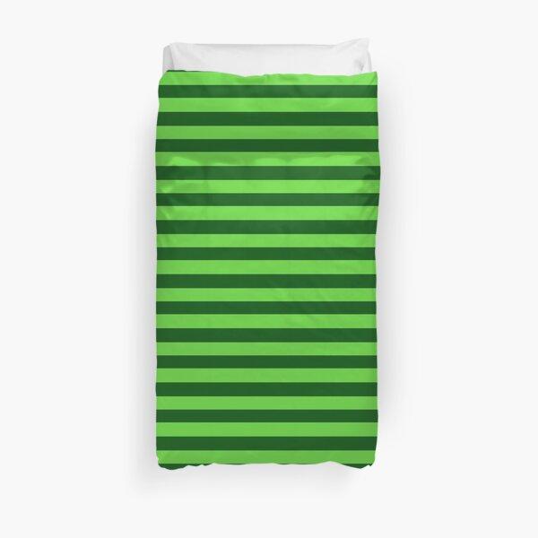 Duet Stripe - Green Duvet Cover