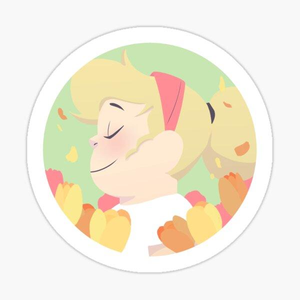Pastel Sadie portrait Sticker