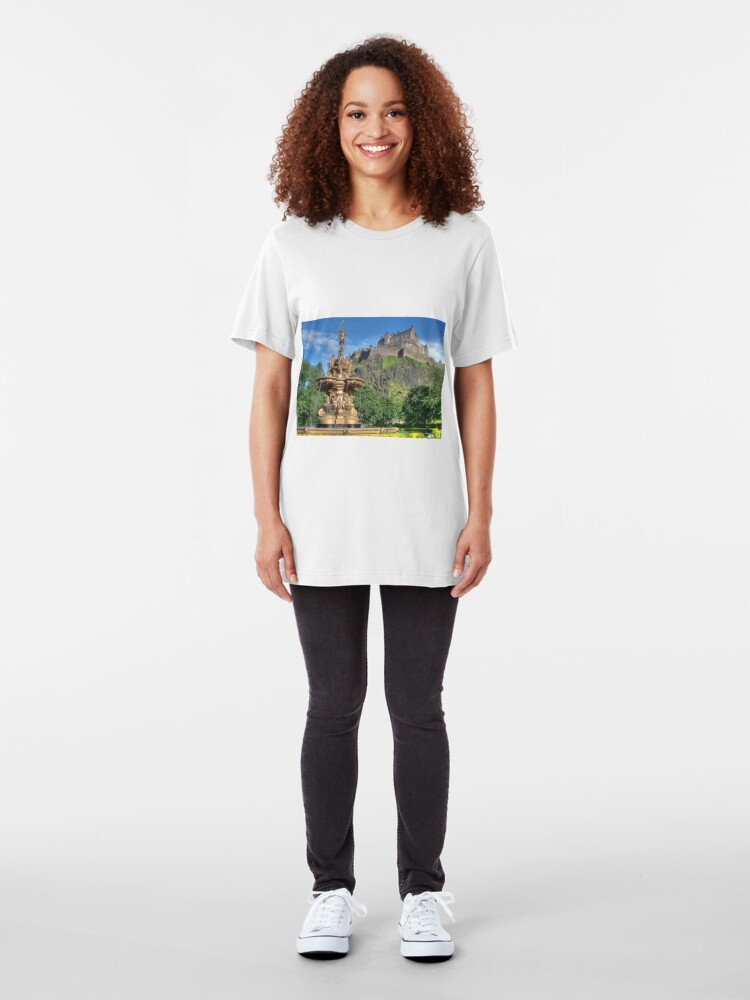 Alternate view of Edinburgh Castle , Scotland Slim Fit T-Shirt