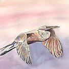 Sunset Heron by mleboeuf