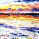 Lake Champlain @ Sunset by mleboeuf