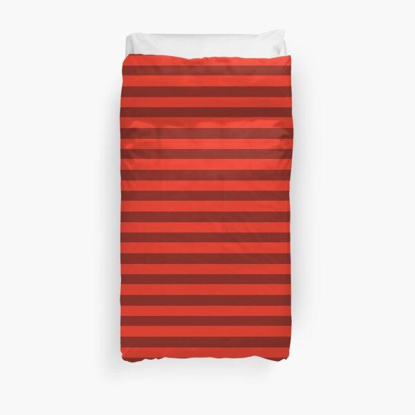 Duet Stripe - Red Duvet Cover