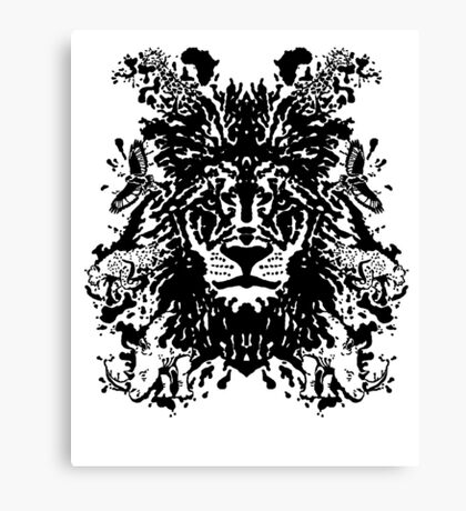 African Ink Canvas Print