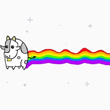 Nyan cow by thelastfreenoob