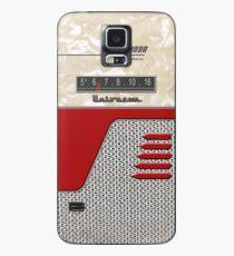 Transistor Radio - 50's Jet Red Hülle & Klebefolie für Samsung Galaxy