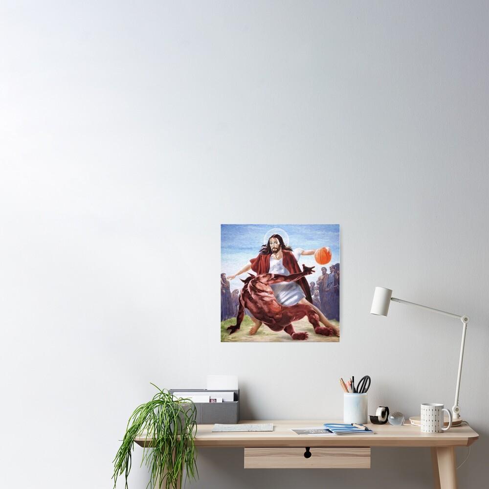 Jesus vs Satan in Basketball Poster