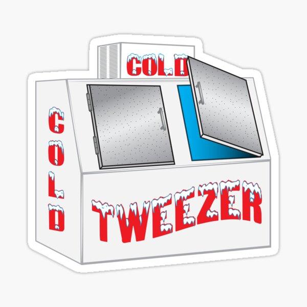 Tweezer. look who's in the freezer. Sticker