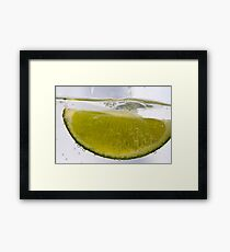 Macro Lime Framed Print