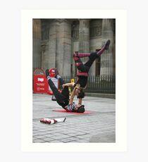 Acrobats Art Print