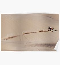 Riding in the Imperial Valley Sand Dunes Poster