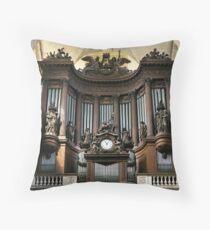 Pipe organ in St Sulpice, Paris Throw Pillow
