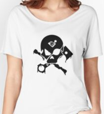 Motorsports Pirate Women's Relaxed Fit T-Shirt