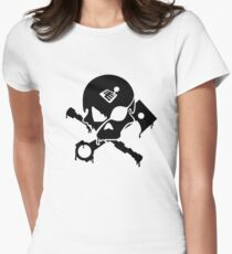 Motorsports Pirate Womens Fitted T-Shirt
