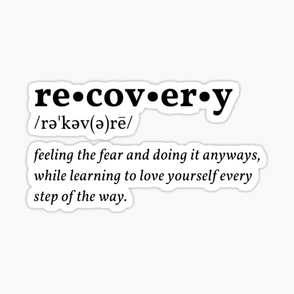 recovery definition Sticker