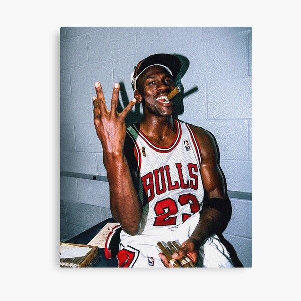 Vintage Michael Jordan Threepeat Canvas Print