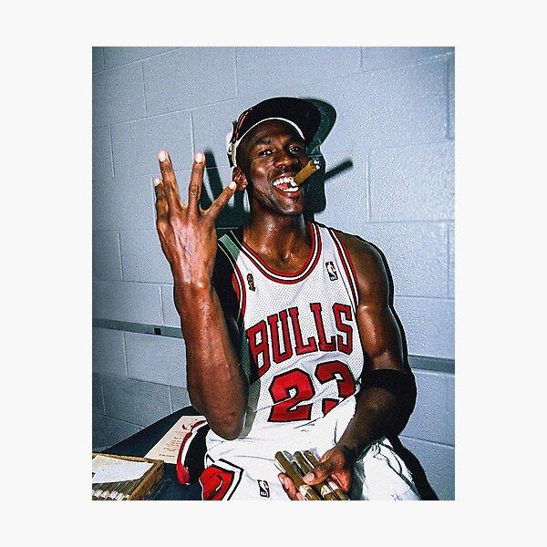Vintage Michael Jordan Threepeat Photographic Print