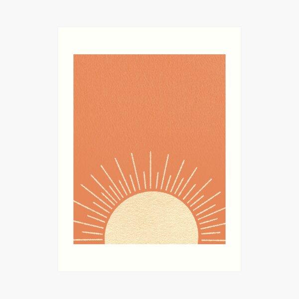 Sonnenaufgang Orange Pink Kunstdruck