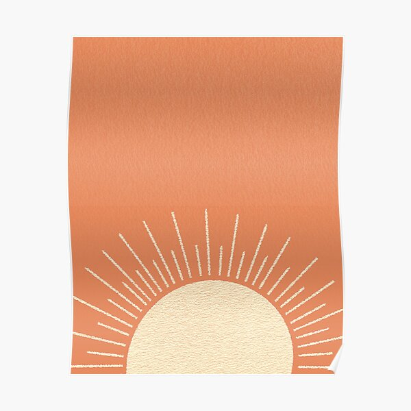 Sunrise Orange Pink Poster