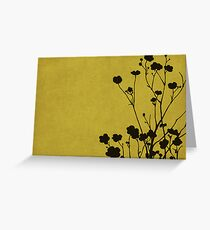 Buttercups in Mustard & Gray Greeting Card