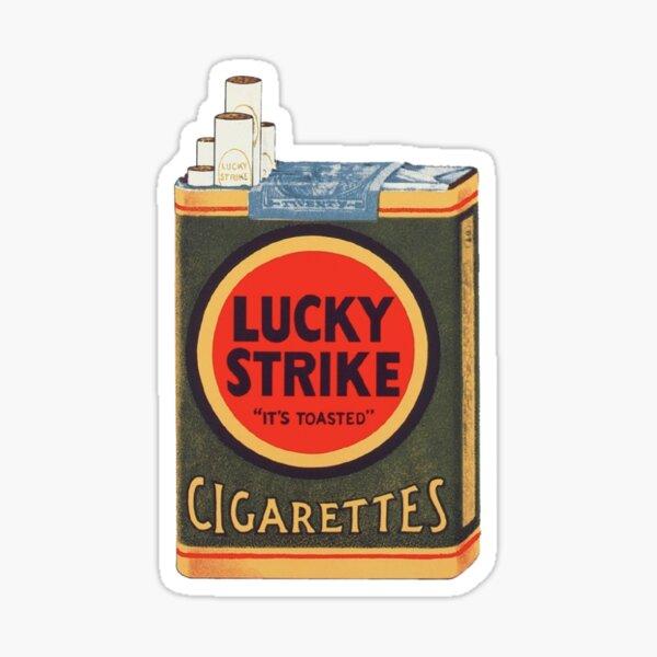 Paquet de cigarettes Vintage Lucky Strike Sticker