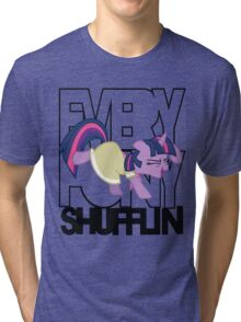 Everypony Shufflin in Color!(For White Shirt) Tri-blend T-Shirt