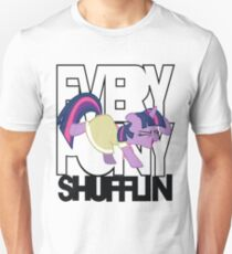 Everypony Shufflin in Color!(For White Shirt) T-Shirt