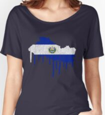 El Salvador Paint Drip Women's Relaxed Fit T-Shirt