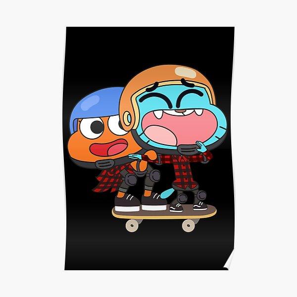 Gumball Darwin Skate Poster