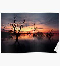 Lake Menindee Sunset  Poster