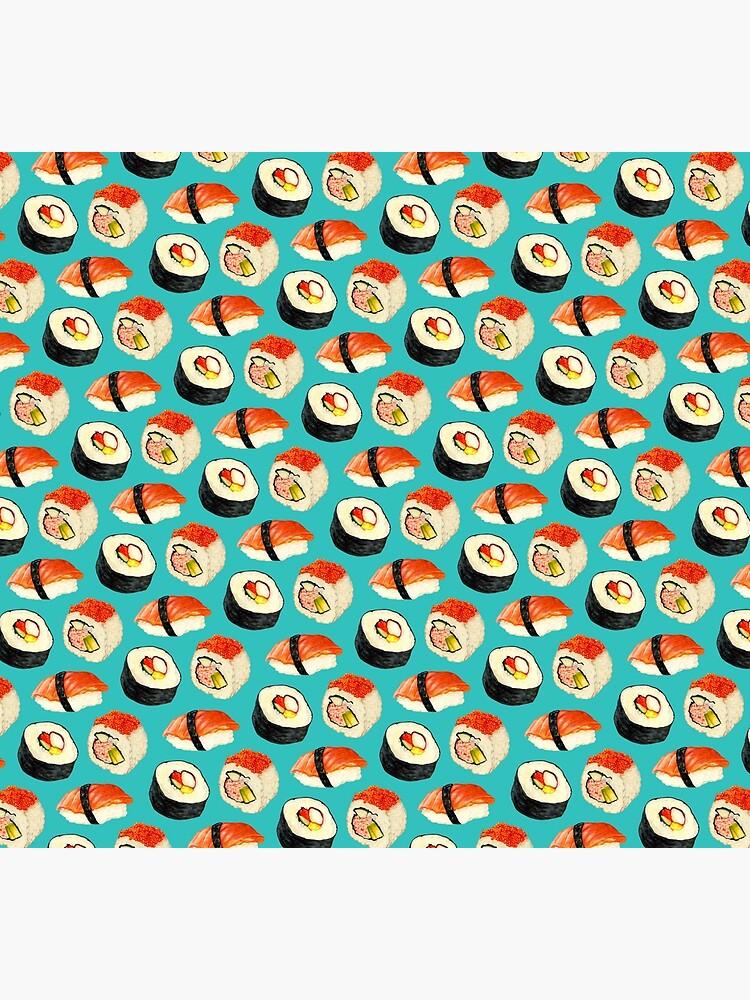 Sushi Pattern - Blue by KellyGilleran