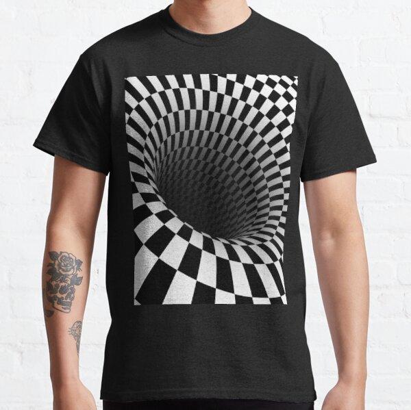 black and white optical illusion Classic T-Shirt