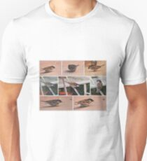 BROWN SPARROW COLLAGE  T-Shirt