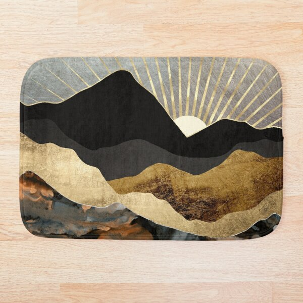 Copper and Gold Mountains Bath Mat
