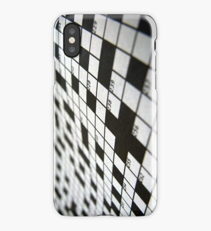Crossword iPhone Case/Skin