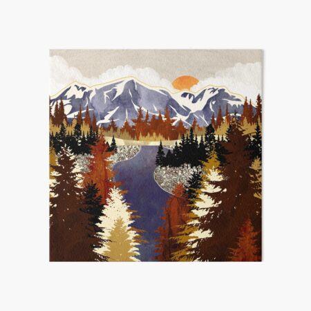 Autumn River Art Board Print