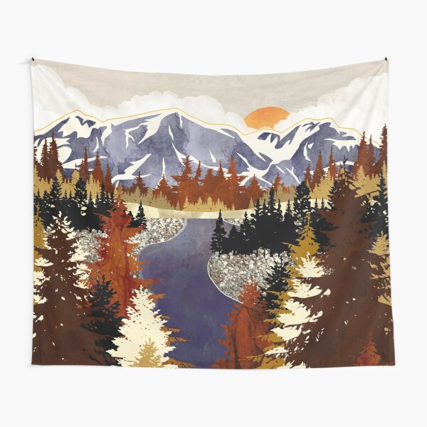 Autumn River Tapestry