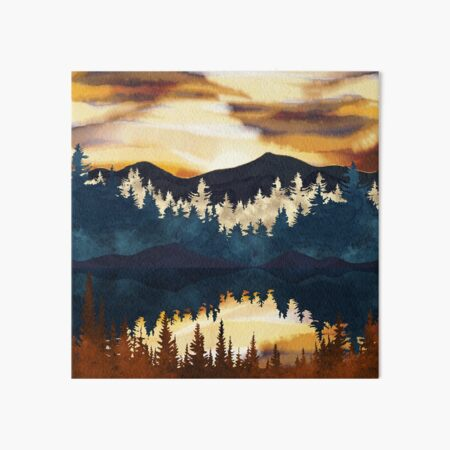 Fall Sunset Art Board Print