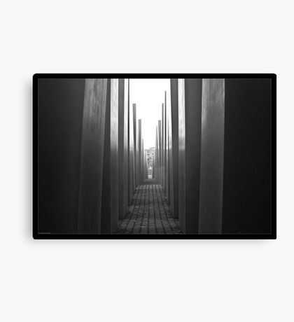 Inside the Holocaust Memorial Canvas Print