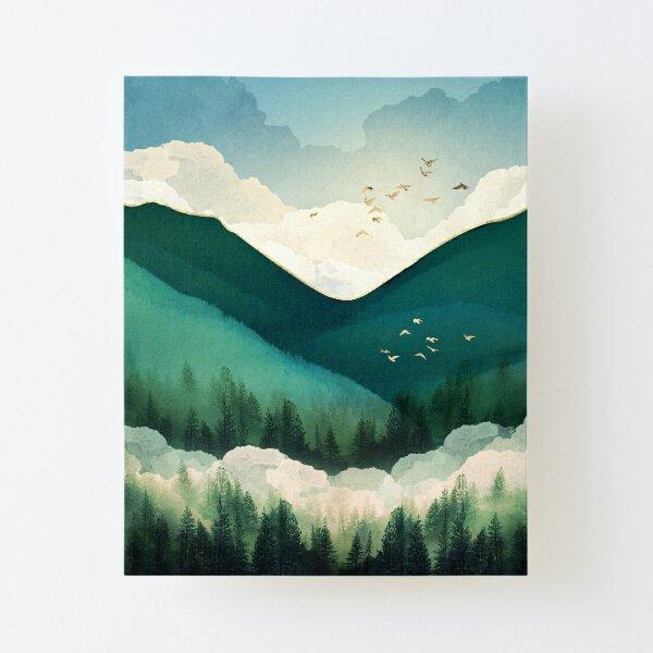 Emerald Hills Canvas Mounted Print