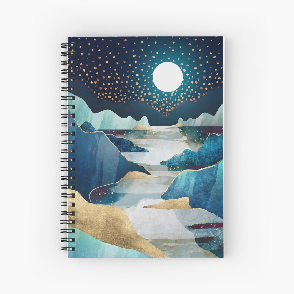 Moon Glow Spiral Notebook