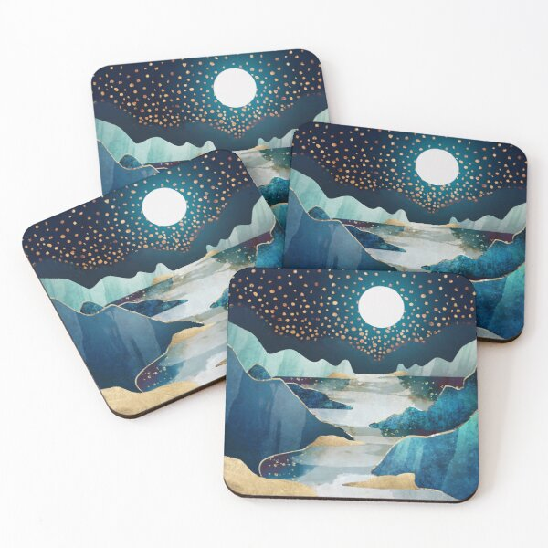 Moon Glow Coasters (Set of 4)