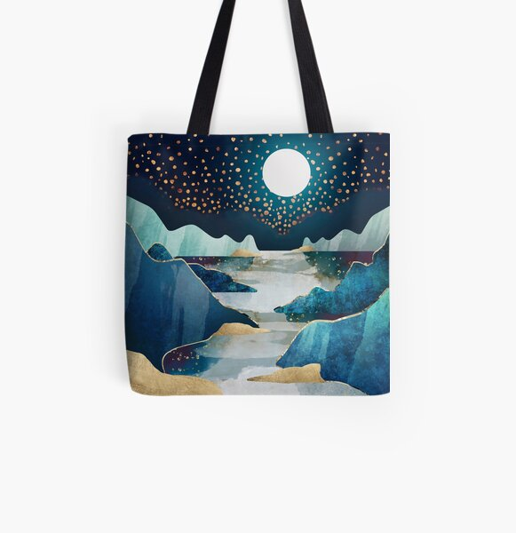 Moon Glow All Over Print Tote Bag