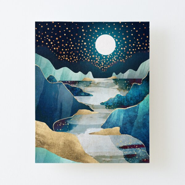 Moon Glow Canvas Mounted Print