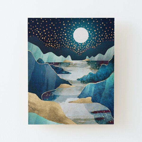 Moon Glow Wood Mounted Print