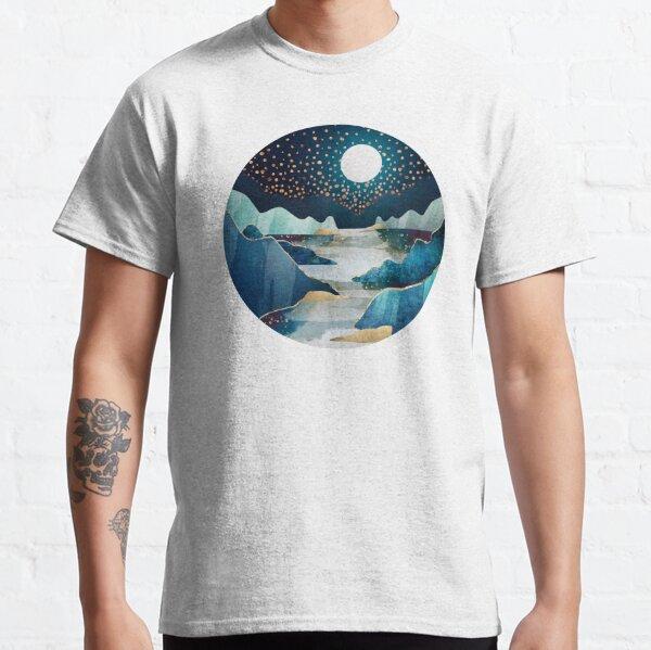 Blau und Sterne Classic T-Shirt