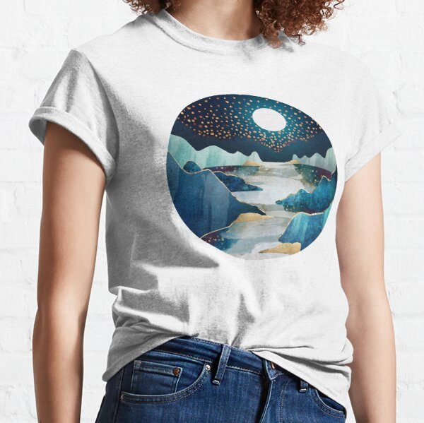 azul y estrellas Camiseta clásica