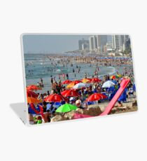 Israel, Tel Aviv, A sunny day on the beach Looking north from south Laptop Skin