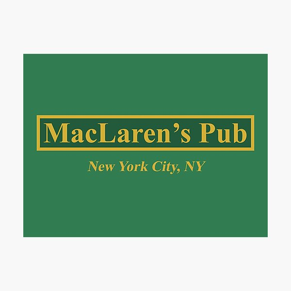 Pub de MacLaren Lámina fotográfica